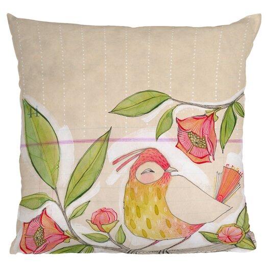 DENY Designs Cori Dantini Little Bird On A Flowery Branch Throw Pillow