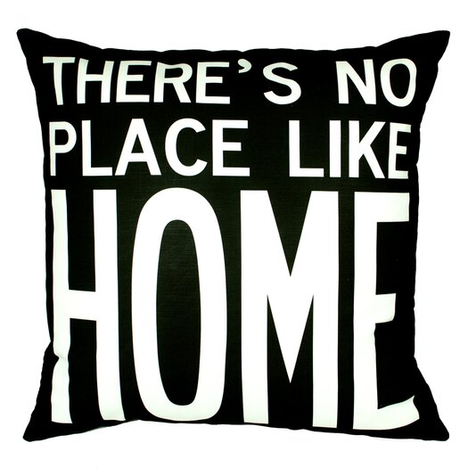 Uptown Artworks No Place Like Home Throw Pillow