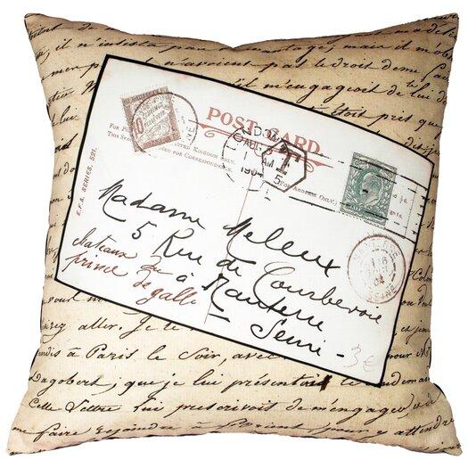 Uptown Artworks French Vintage Postcard Throw Pillow