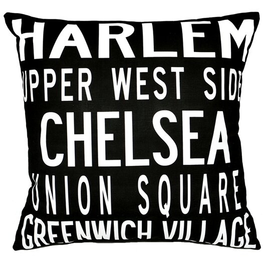 Uptown Artworks NY Throw Pillow
