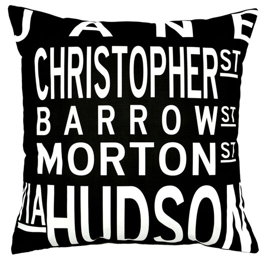 Uptown Artworks West Village Throw Pillow