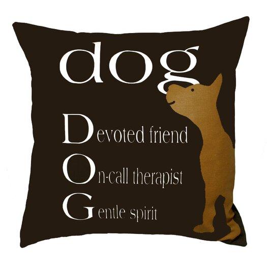 Uptown Artworks Dog Therapist Throw Pillow