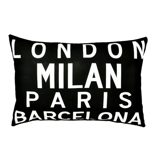 Uptown Artworks Cities of Europe Throw Pillow