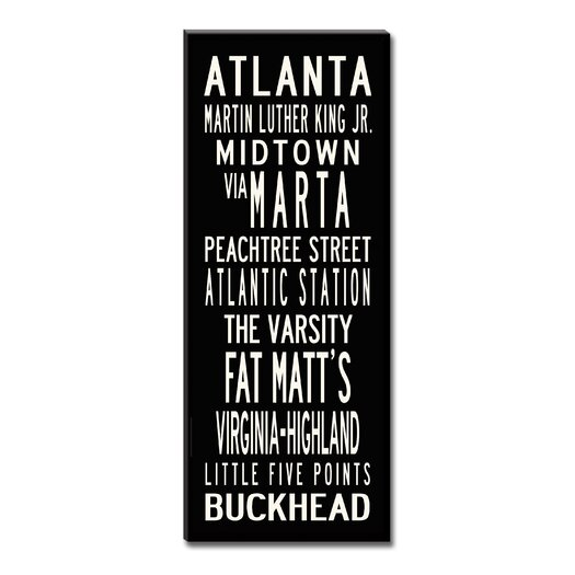 Uptown Artworks Atlanta by Uptown Artworks Framed Textual Art on Wrapped Canvas