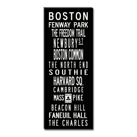 Uptown Artworks Boston Textual Art Giclee Printed on Canvas