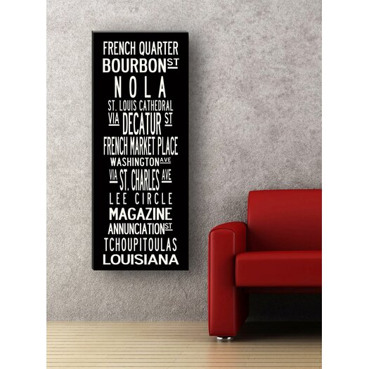 Uptown Artworks New Orleans Textual Art Giclee Printed on Canvas