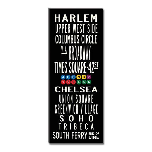 Uptown Artworks New York Neighborhoods Textual Art Giclee Printed on Canvas