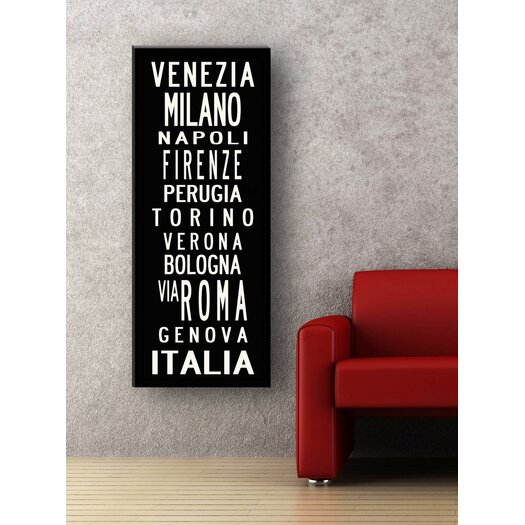 Uptown Artworks Rome Textual Art Giclee Printed on Canvas