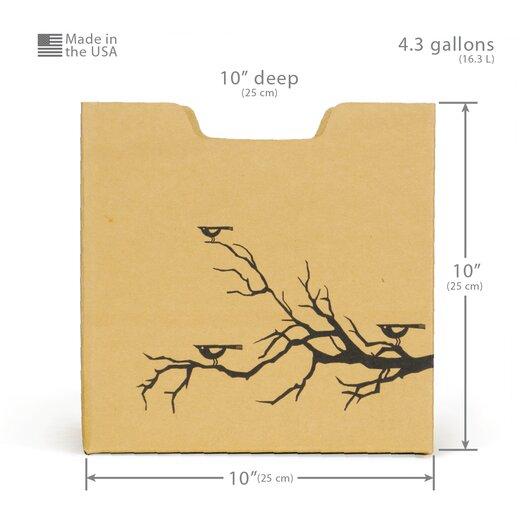 Sprout Bird Print Cardboard Cubby Bin (Set of 6)