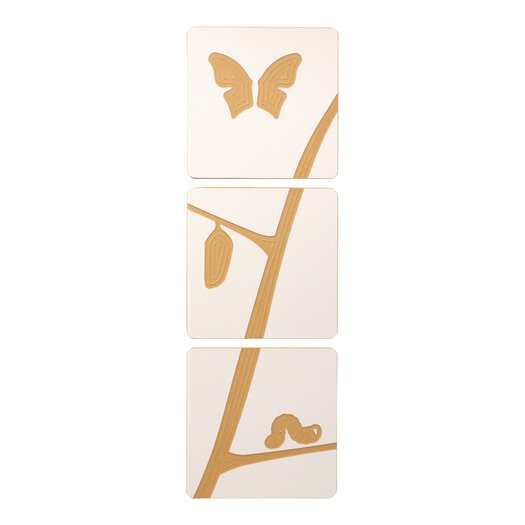 Caterpillar to Butterfly Tile Graphic Art Set
