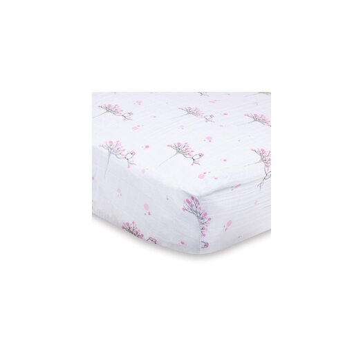 aden + anais For the Birds Classic Fitted Crib Sheet