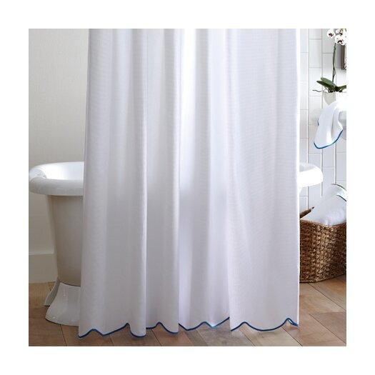 Peacock Alley Scalloped Pique Cotton Shower Curtain