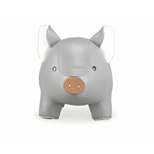 Zuny Classic Grey Pig Synthetic Leather Floor Stop