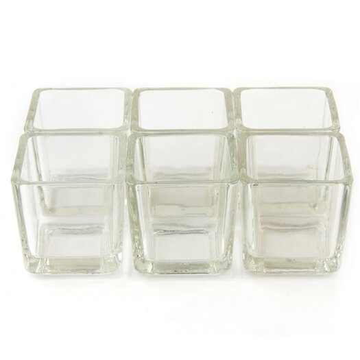 Zest Candle Square Glass Votive Holder