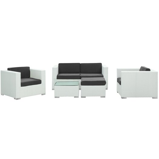 Modway Malibu 5 Piece Seating Group with Cushions