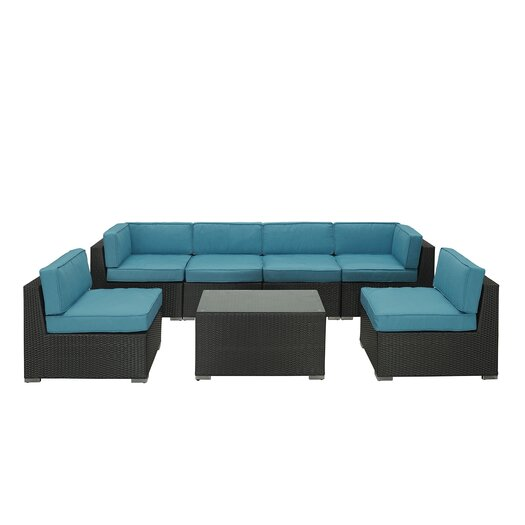 Modway Camfora 7 Piece Deep Seating Group with Cushions