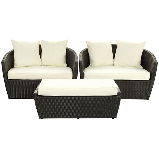 Modway Fountain 3 Piece Deep Seating Group with Cushions