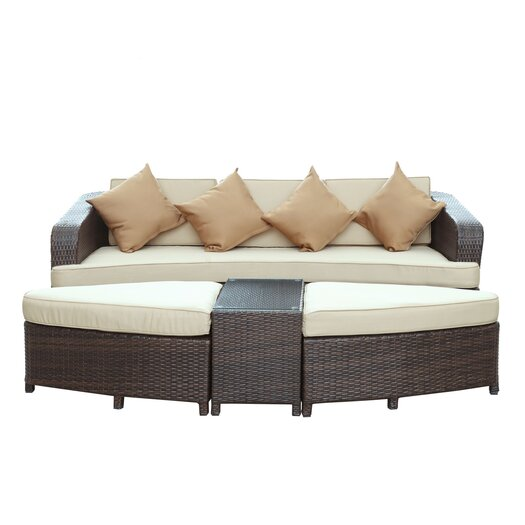 Modway Monterey 4 Piece Deep Seating Group with Cushions I