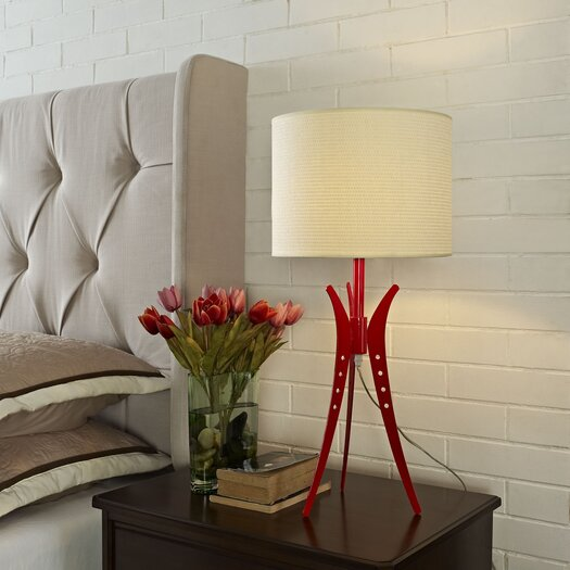 "Modway Flair 25"" H Table Lamp with Drum Shade"