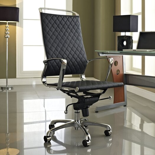 Modway Vibe High-Back Leather Conference Chair