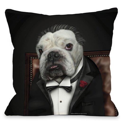 One Bella Casa Pets Rock Dog Barker Throw Pillow