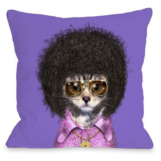 One Bella Casa Pets Rock Disco Throw Pillow