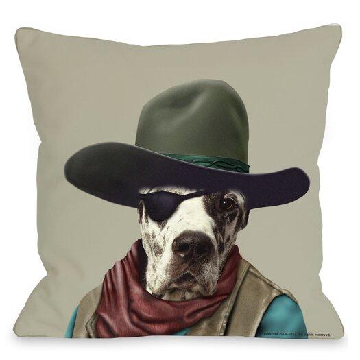 One Bella Casa Pets Rock Cowboy Throw Pillow