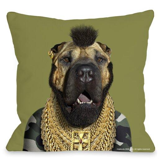 One Bella Casa Pets Rock Fool Throw Pillow