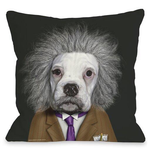 One Bella Casa Pets Rock Brain Throw Pillow
