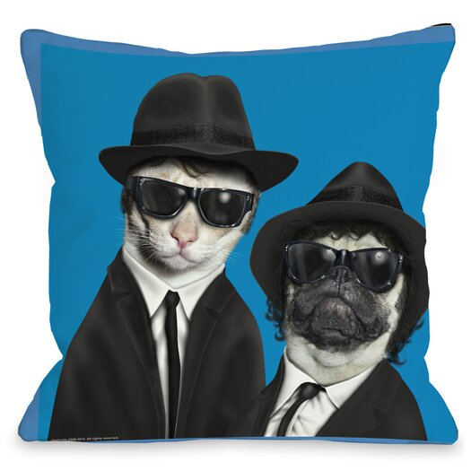 One Bella Casa Pets Rock Brothers Throw Pillow