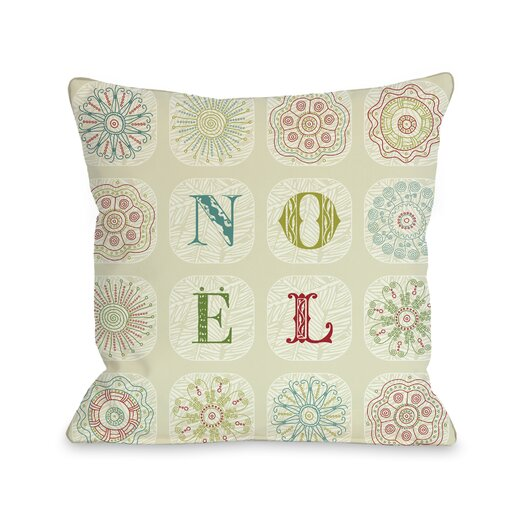One Bella Casa Holiday Boho Noel Throw Pillow