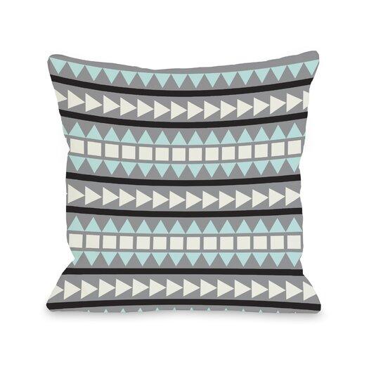 One Bella Casa Tobi Print Geometric Throw Pillow