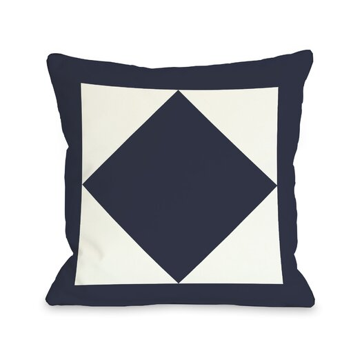 One Bella Casa Square and Diamond Throw Pillow