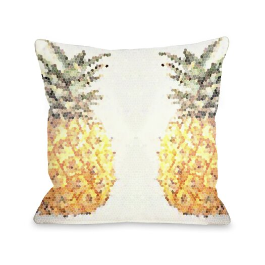 One Bella Casa Pineapple Half Throw Pillow