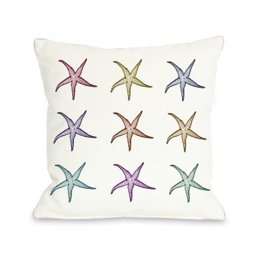 One Bella Casa Starfish Pattern Throw Pillow