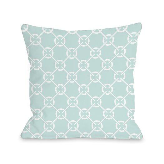 One Bella Casa Cecile's Circles Throw Pillow