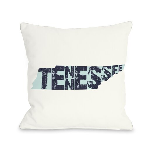 One Bella Casa Tennessee State Throw Pillow