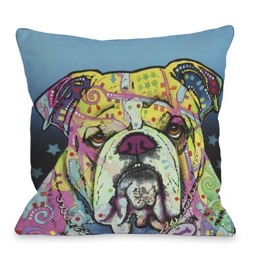 One Bella Casa Doggy Décor The Bulldog Throw Pillow