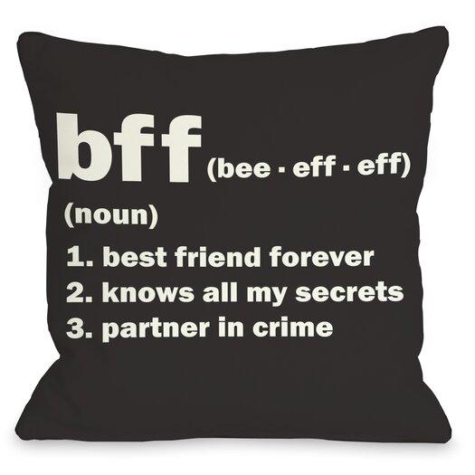 One Bella Casa BFF Definition Throw Pillow