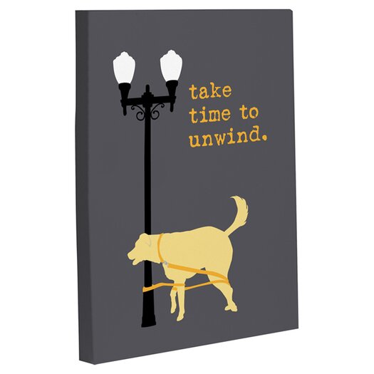 One Bella Casa Doggy Decor Unwind Dog Graphic Art on Wrapped Canvas