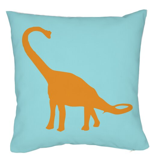 One Bella Casa Apatosaurus Stripes Throw Pillow