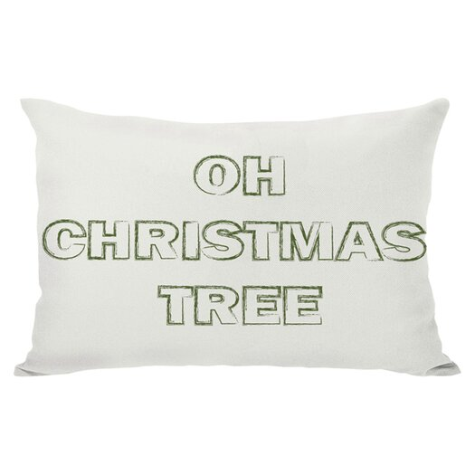 One Bella Casa Holiday Oh Christmas Tree Reversible Lumbar Pillow