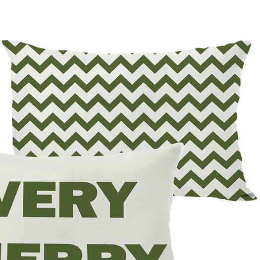 One Bella Casa Holiday Very Merry Lumbar Pillow