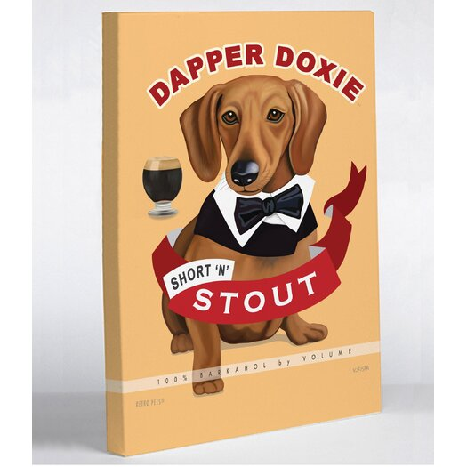 One Bella Casa Doggy Decor Dapper Doxie Graphic Art on Wrapped Canvas