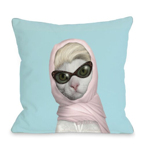 One Bella Casa Pets Rock Princess Throw Pillow