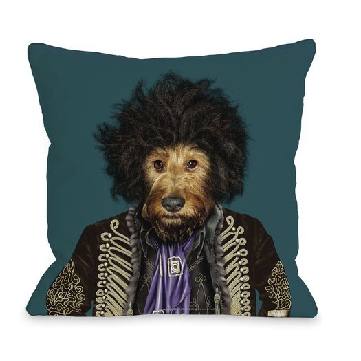 One Bella Casa Pets Rock Psychedelic Throw Pillow