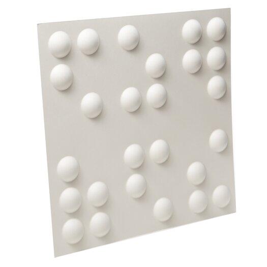 "Inhabit Braille Wall Flats 18' x 18"" Polka Dot 3D Embossed 10 Piece Panel Wallpaper"