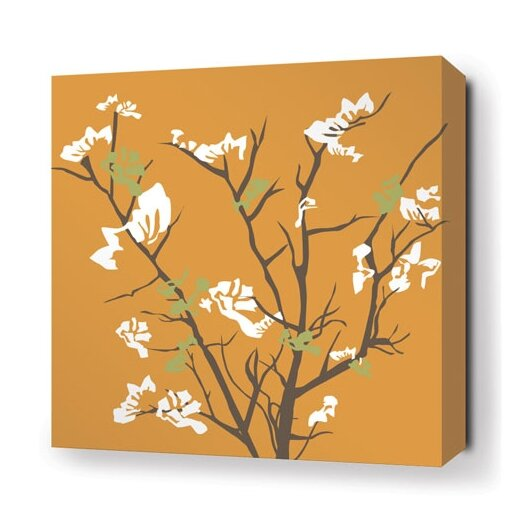 Inhabit Rhythm Ailanthus Stretched Graphic Art on Wrapped Canvas in Sunshine