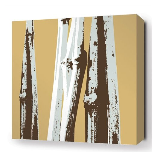 Inhabit Botanicals Bamboo Stretched Graphic Art on Wrapped Canvas in Brown