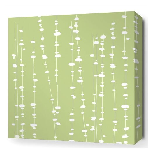 Inhabit Estrella Pussy Willows Stretched Graphic Art on Wrapped Canvas in Celery